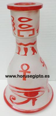 Botella con jeroglifico
