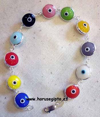 Pulsera ojos multicolor